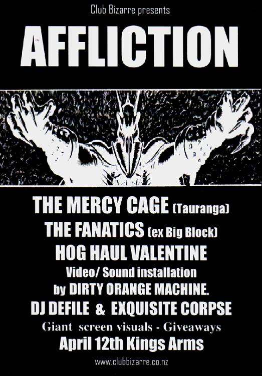 Affliction Event Poster